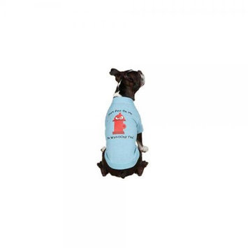 Petedge ZM351 14 19 Casual Canine Hydrant Tee S/M Blue