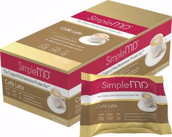 Simple MD Original Mediterranean Protein Bar Caffe Latte-12 Bars