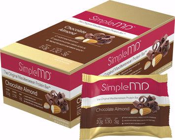 Simple MD Original Mediterranean Protein Bar Chocolate Almond-12 Bars