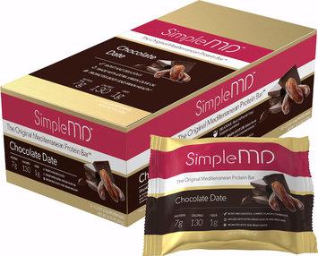 Simple MD Original Mediterranean Protein Bar Chocolate Date-12 Bars