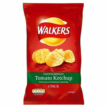Walkers Crisps - Tomato Ketchup (6x25g) - Pack of 2