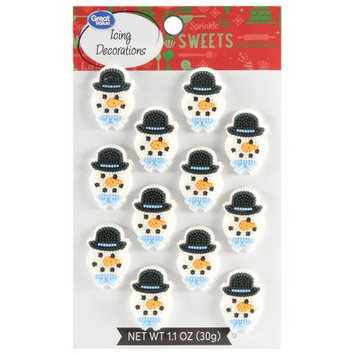 Great Value Snowmen Icing Decor