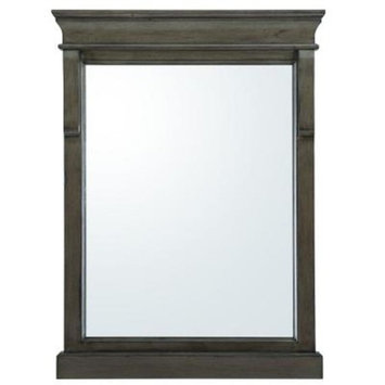Home Decorators Collection Naples 24 in. x 32 in. Wall Mirror in Distressed Grey