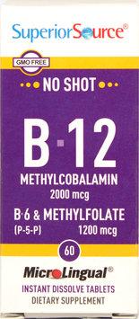 Superior Source - No Shot Vitamin B12 2000 mcg. - 60 Quick Dissolve Tablets
