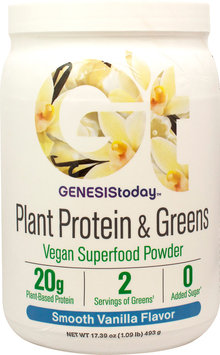 Plant Protein & Greens Vanilla Genesis Today Inc 18.59 oz (17 Serving Powder