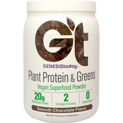 Plant Protein & Greens Chocolate Genesis Today Inc 18.59 oz (17 Serving Powder