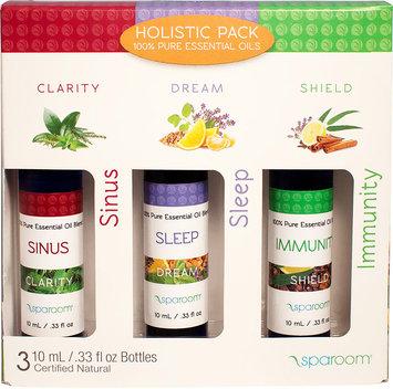 SpaRoom Essential Oils Pack, Holistic, 0.33 Oz, 3 Ct