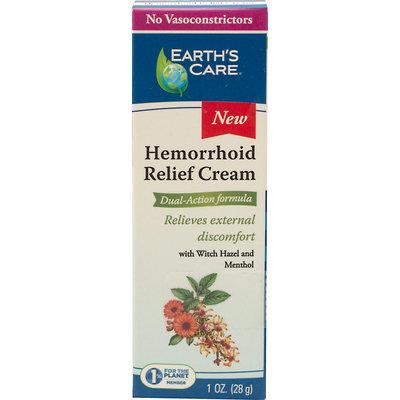 Hemorrhoid Relief Cream, Dual-Action Formula, 1 oz, Earth's Care
