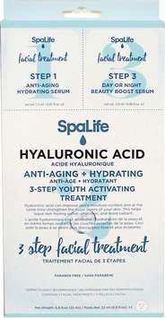 Spa Life SpaLife 3-Step Hyaluronic Acid Facial Treatment (Pack of 3)