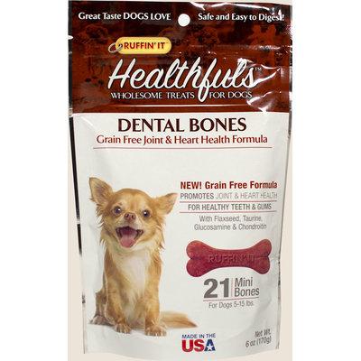 Ruffin'It Healthfuls Dental Bones for Small Dogs-6 oz Bag