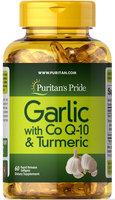Puritan's Pride Garlic with CoQ-10 & Turmeric-60 Softgels