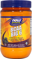 BCAA Big 6 Powder, Grape Now Foods 600 grams Powder