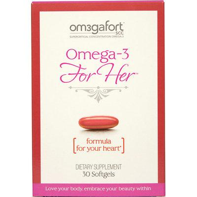 Omegafort Omega-3 For Her (formula for your heart)-30 Softgels