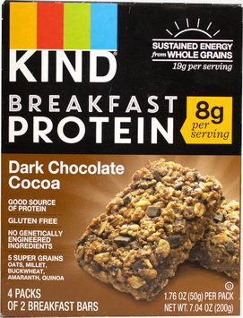 Kind KIND Breakfast Protein Bars, Dark Chocolate Cocoa, 8g Protein-4 Bars