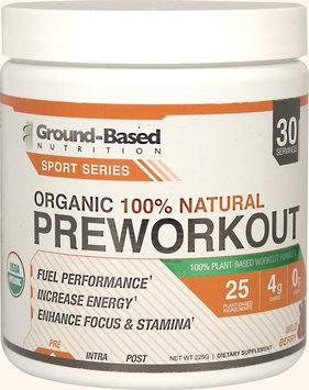 Ground Based Nutrition Ground-Based Nutrition Sport Series Pre-Workout, Organic Plant-Based Formula, Wild Berry, 6.34 Oz