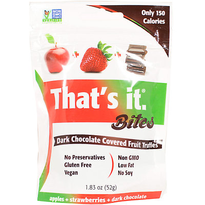 That's It. Thats It 900009 1.83 oz Bites Strawberry Dark Chocolate Pack of 4