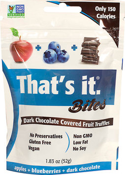 That's It. Thats It 900007 1.83 oz Bites Blueberry Dark Chocolate Pack of 4