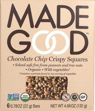 Made Good 2084424 4.68 oz Crispy Squares Chocolate Chip - Case of 6