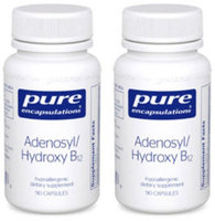 Pure Encapsulations - Adenosyl Hydroxy B12 90 Capsules 2 PACK Exp.2.18+ SD