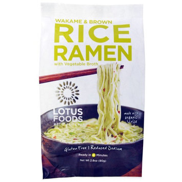 Lotus Foods, Wakame & Brown Rice Ramen, with Vegetable Broth, 10 Packs, 2.8 oz (80 g) Each [Flavor : Wakame & Brown Rice Ramen, with Vegetable Broth]