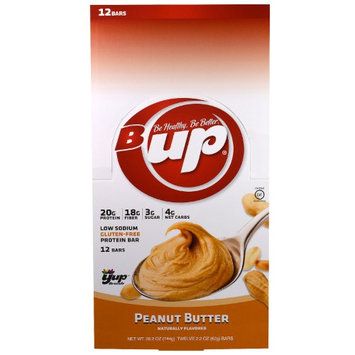 YUP, B Up Protein Bar, Peanut Butter, 12 Bars, 2.2 oz (62 g) Each(pack of 2)