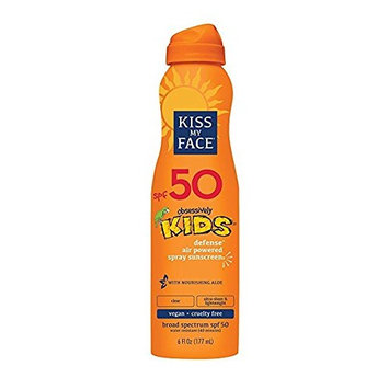Kiss My Face Kids Defense Continuous Spray Sunscreen SPF 50 Sunblock, 6 oz (pack of 3)