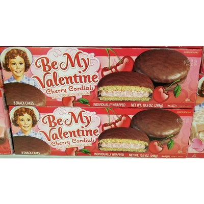 Little Debbie Valentines Days Snack Cakes and Treats 2 Boxes (Cherry Cordials)