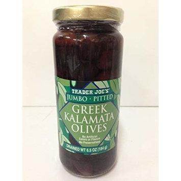 Trader Joes JUMBO Pitted Greek Kalamata Olives 14.5 oz (Pack of 3)