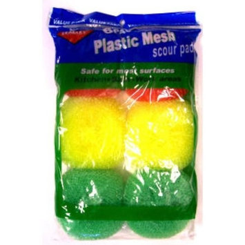Bulk Buys 6 pk. Nylon Mesh Scouring Pads - Case of 72