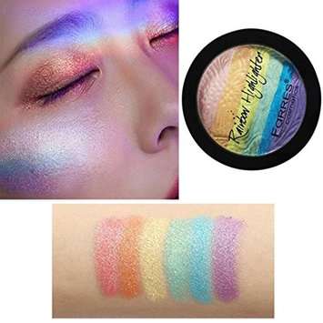 YOYORI Shimmer Glitter High-light Powder Cake Palette Durable and Comfortable Touch Cosmetic Makeup Kit for Professional Makeup or Daily Use