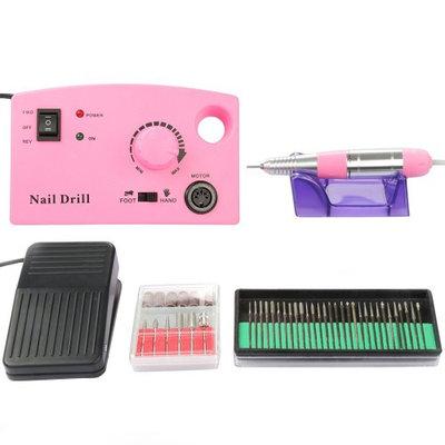 Besmall 20000 RPM Electric Drill Nail Set Kit Fast Machine Manicure Pedicure Acrylics Gel Polish Professional Salon Nail Machine