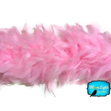 Moonlight Feather | 2 Yards - 80 Grams Light Pink Turkey Chandelle Feather Boa Halloween, Dance, Fashion Boa