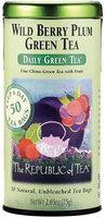 The Republic of Tea Daily Green Tea Wild Berry Plum