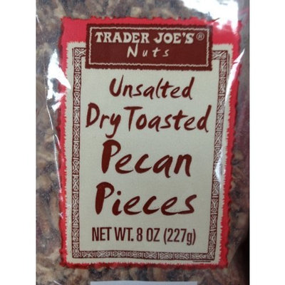 Trader Joe's Unsalted Dry Toasted Pecan Pieces 8oz