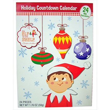 2016 Christmas Advent Holiday Countdown Calendar with 24 Milk Chocolates