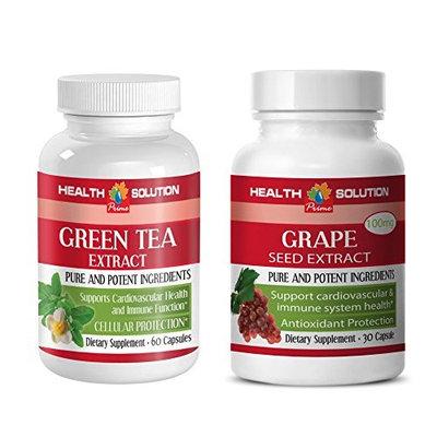 immune herbal formula - GREEN TEA - GRAPE SEED EXTRACT - grape seed for hair - (2 Bottles Combo)