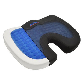 Bdk ACDelco Cool-Therapy Orthopedic Cooling Gel Seat Cushion - Premium Memory Foam - Stress Relief for Back Pain Pillow (Coccyx Cushion)