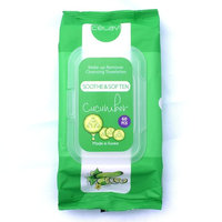 Celavi Makeup Remover Cleansing Wipes Removing Towelettes 1 Pack - 60 Sheets (Cucumber)