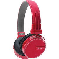 ILUV IEP636RED ReF Deep Bass Headphones - Red