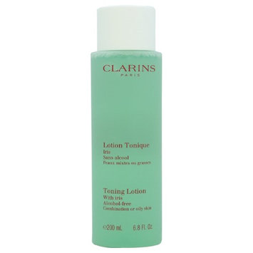Toning Lotion With Iris - Combination or Oily Skin by Clarins for Unisex - 6.8 oz Toning Lotion (Tester)