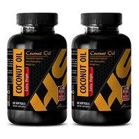 Improve memory - COCONUT OIL EXTRA VIRGIN - Coconut oil - 2 Bottle 120 Softgels
