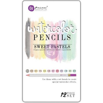 Prima Marketing WPSET-84665 Mixed Media Watercolor Pencils - Sweet Pastels (Pack of 12)