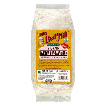 Bobs Red Mill Pancake & Waffle Mix 7 Grain Organic, 26 OZ (Pack of 4)