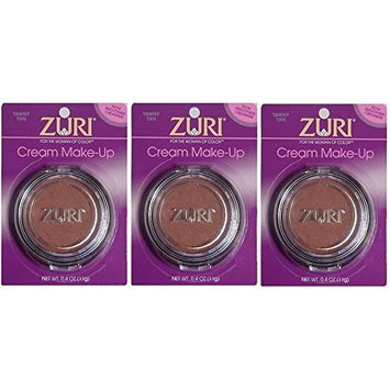[VALUE PACK OF 3] ZURI Cream Make Up 0.4OZ [COCOA BRONZE] : Beauty