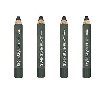 (Pack of 4) - Styli-Style Flat Eye Pencils - 418 Dublin ( Dark Green) : Beauty