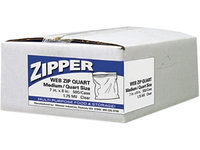 Webster ZIPQUART Reclosable Plastic Freezer Bags, Quart - 500-Pack