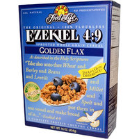 Food For Life, Ezekiel 4:9, Sprouted Whole Grain Cereal, Golden Flax, 16 oz (pack of 12)