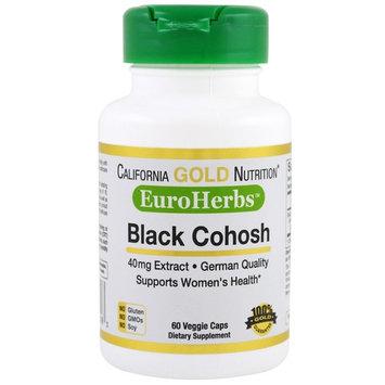 California Gold Nutrition, Black Cohosh Extract, EuroHerbs, 40 mg, 60 Veggie Caps