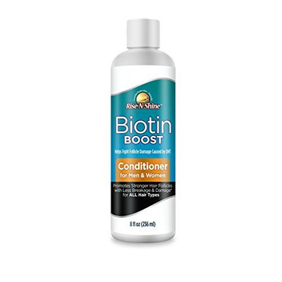 Biotin Boost Conditoner Hair Growth Formula for DHT Hair Loss for Thicker Fuller Healthy Hair Anti Dandruff Formula with Coconut Oil, Wheat Protein, Shea Butter by Rise-N-Shine for Men & Women
