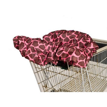 Wupzey Shopping Cart Cover, Pink Giraffe